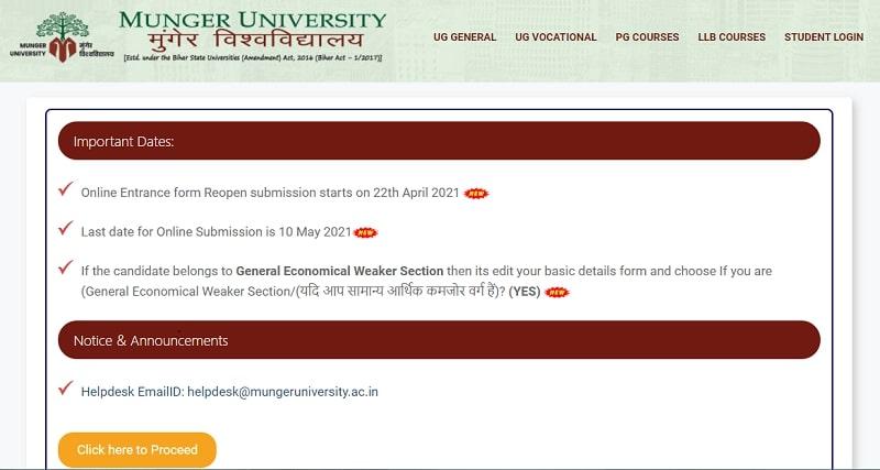 Munger University PG Admissions